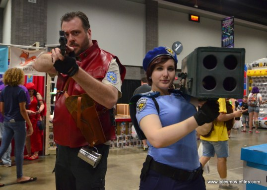 Awesome Con 2017 Day 2 cosplay -Barry Burton and Jill Valentine Resident Evil
