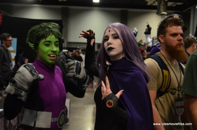 Awesome Con 2017 Day 2 cosplay - Beast Boy and Raven
