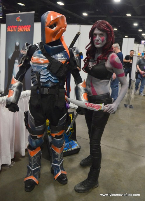 Awesome Con 2017 Day 2 cosplay -Deathstroke and Lady Drax