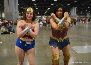 Awesome Con 2017 Day 2 cosplay -classic and current Wonder Woman