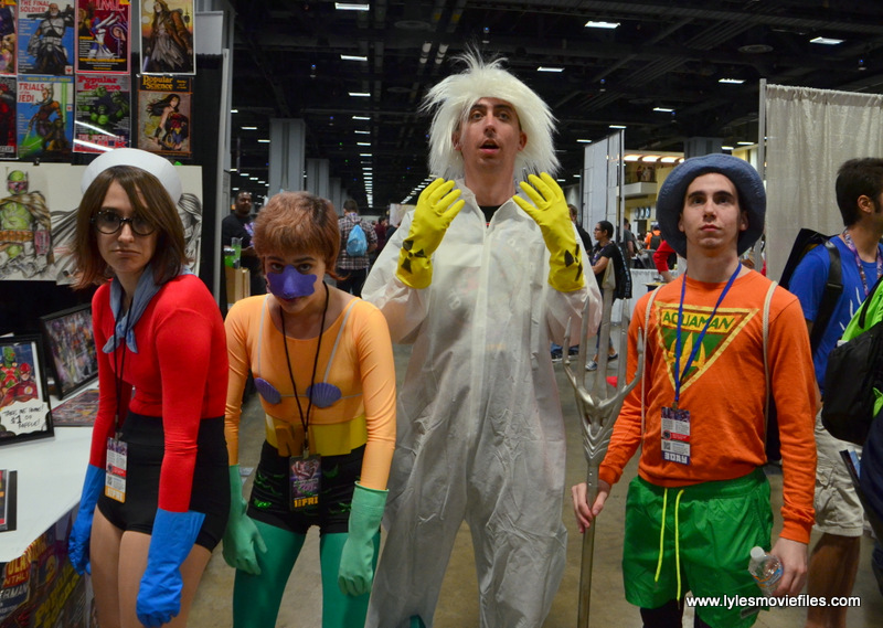 Awesome Con 2017 cosplay Friday -Barnacle Boy, Mermaid Man, Doc Brown and Aquaman