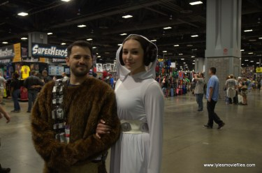 Awesome Con 2017 cosplay Friday - Chewbacca and Princess Leia