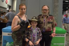 Awesome Con 2017 cosplay Friday -The Walking Dead Andrea, Carl and Rick Grimes