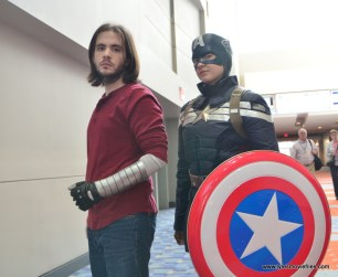 Awesome Con 2017 cosplay Friday -Winter Soldier and Captain America