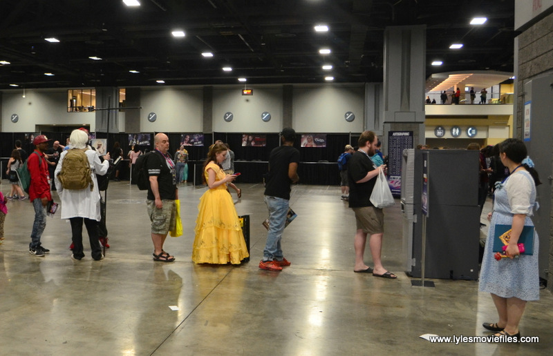Awesome Con 2017 even Belle has to wait in the ATM line