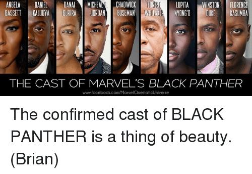 Black Panther cast love