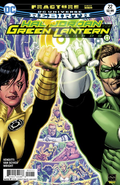 Hal Jordan and the Green Lantern Corps #22 cover