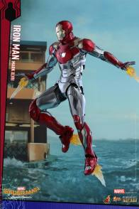 Hot Toys Iron Man Mark 47 figure - repulsor hovering