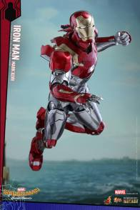 Hot Toys Iron Man Mark 47 figure - taking off