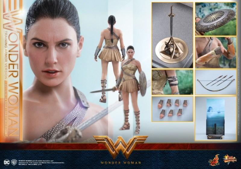 Hot Toys Wonder Woman Training Armor Version -collage