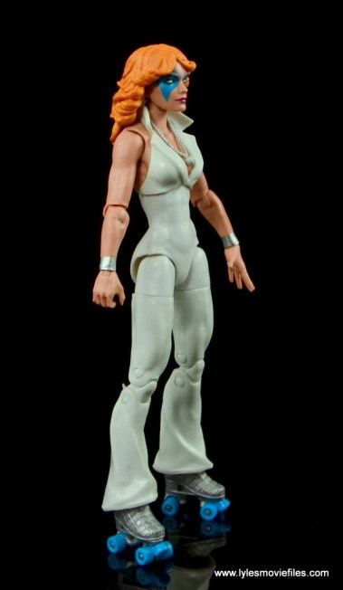 Marvel Legends Dazzler figure review -right side