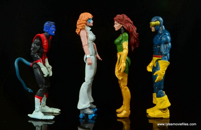 Marvel Legends Dazzler figure review -scale with Nightcrawler, Phoenix and Cyclops