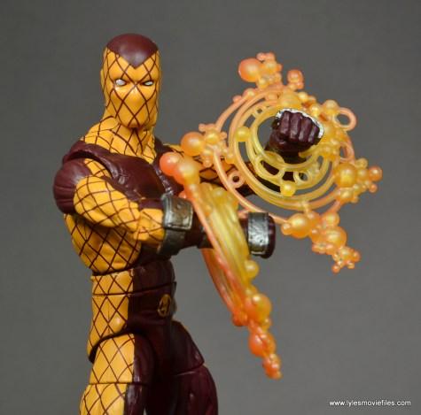 Marvel Legends Shocker figure review -power effect close up