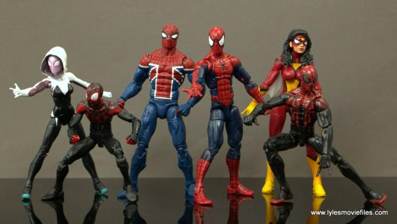 Marvel Legends Spider-Man UK figure review - with Spider-Gwen, Miles Morales, Spider-Man, Spider Woman and Superior Spider-Man