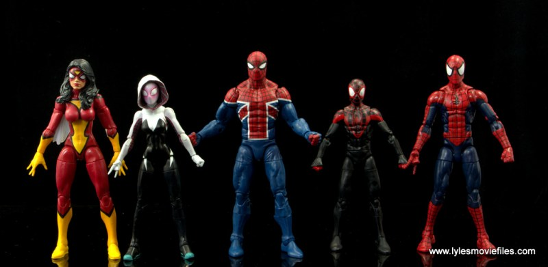 Marvel Legends Spider-Man UK figure review - with Spider-Woman, Spider-Gwen, Miles Morales and Spider-Man