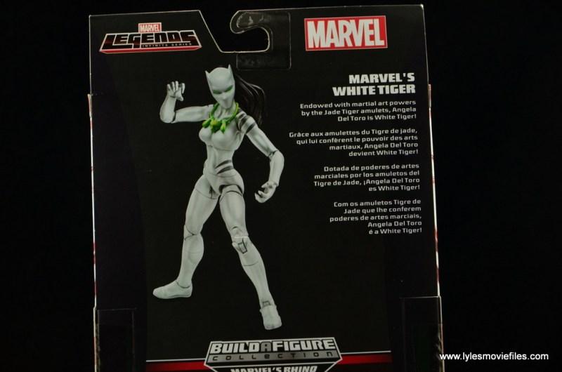 Marvel Legends White Tiger figure review -bio