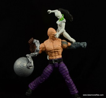 Marvel Legends White Tiger figure review -clawing at Absorbing Man