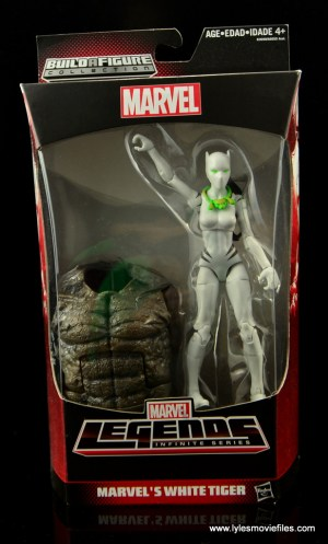 Marvel Legends White Tiger figure review - package front