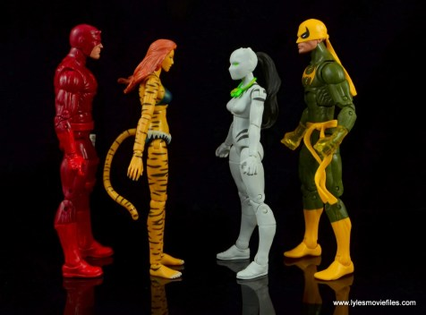 Marvel Legends White Tiger figure review -scale with Daredevil, Tigra and Iron Fist