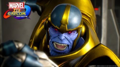Marvel vs Capcom Infinite Thanos character screen