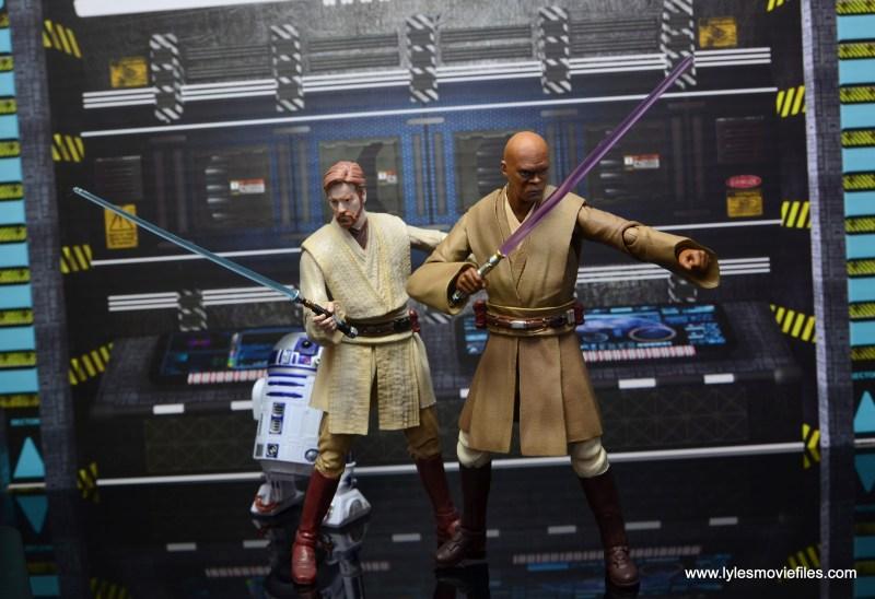 SH Figuarts Mace Windu figure review - ready for battle with Obi-Wan Kenobi final