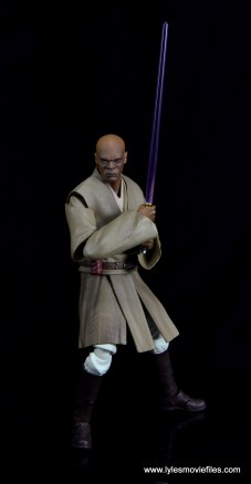 SH Figuarts Mace Windu figure review - saber with angry face