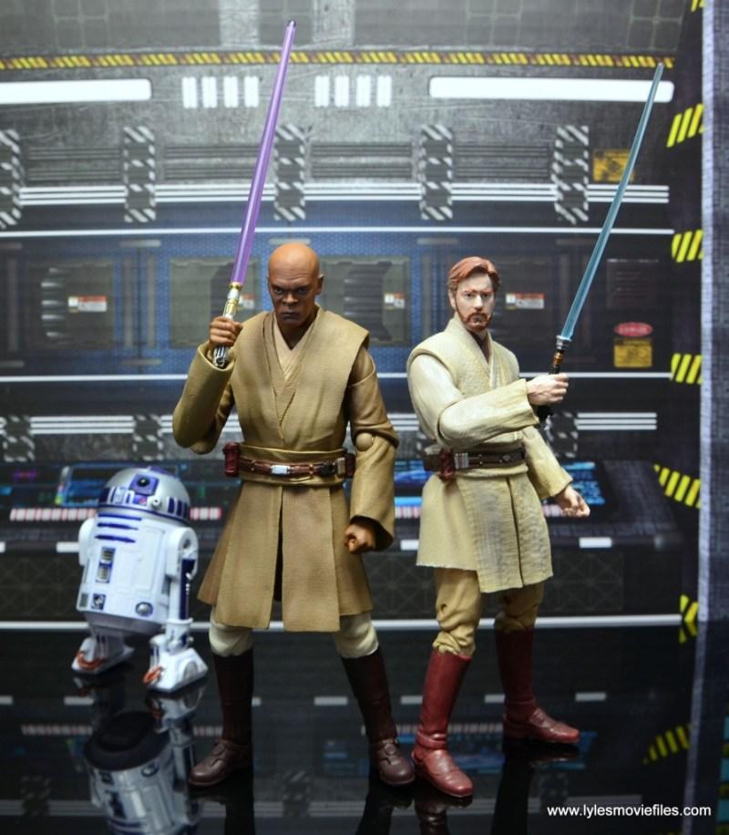 SH Figuarts Mace Windu figure review - with R2-D2 and Obi Wan Kenobi