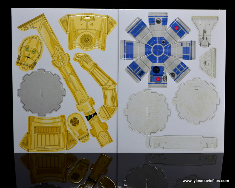 Star Wars Builders Droids set - model piece sheets