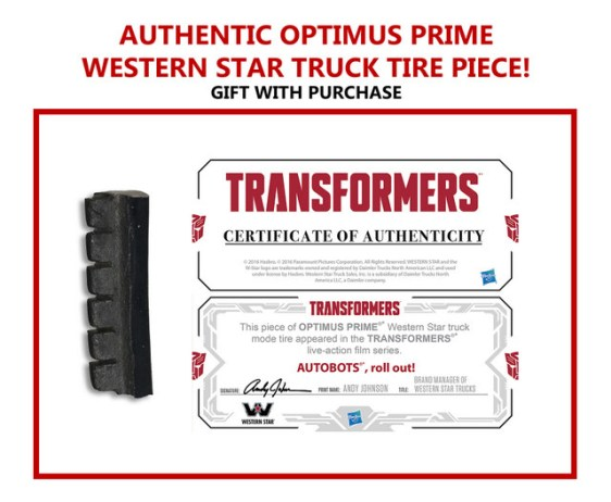 TRANSFORMERS THE LAST KNIGHT OP Figure_Gift With Purchase