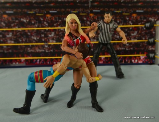 WWE Basic Alexa Bliss figure review - punching Bayley