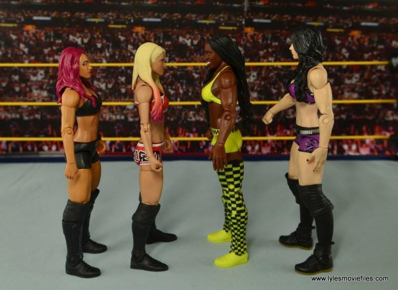 WWE Basic Alexa Bliss figure review - scale with Sasha Banks, Naomi and Paige