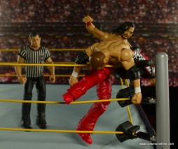 WWE Defining Moments Shinsuke Nakamura figure review -knee in the corner to Sami Zayn