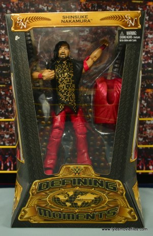 WWE Defining Moments Shinsuke Nakamura figure review - package front