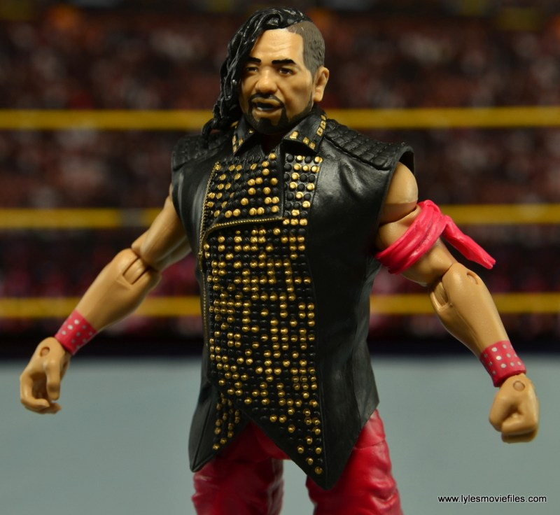 WWE Defining Moments Shinsuke Nakamura figure review -vest detail
