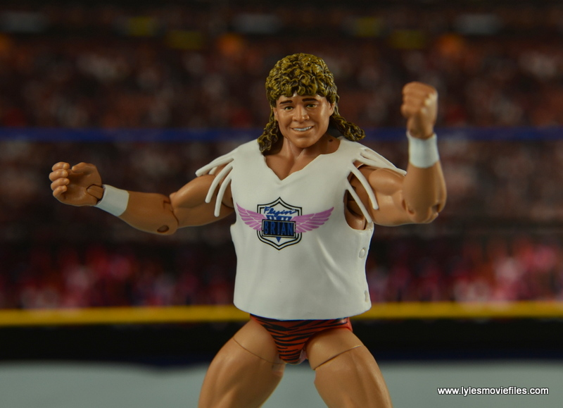 WWE Elite Flyin Brian figure review -T-Shirt