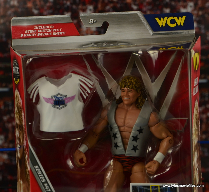 WWE Elite Flyin Brian figure review -card top error