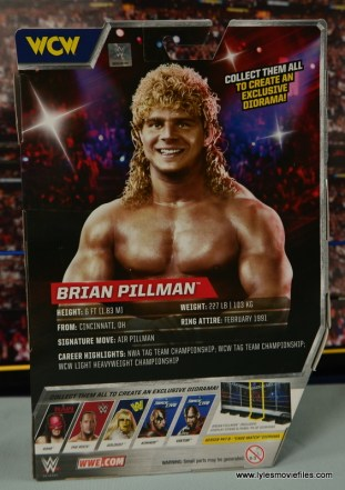 WWE Elite Flyin Brian figure review -package rear