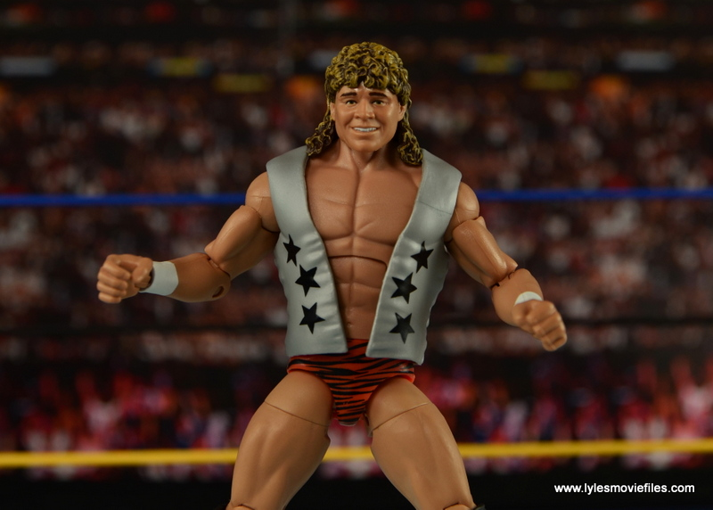 WWE Elite Flyin Brian figure review -vest on