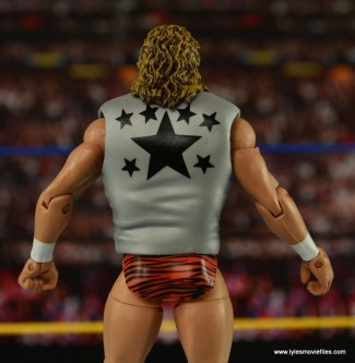 WWE Elite Flyin Brian figure review - vest rear