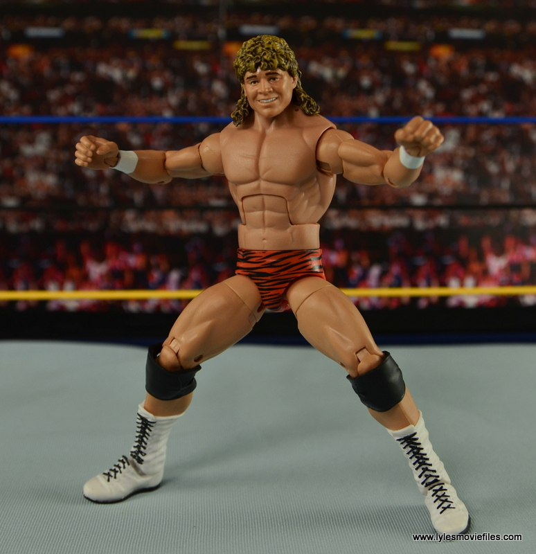 WWE Elite Flyin Brian figure review - wide stance