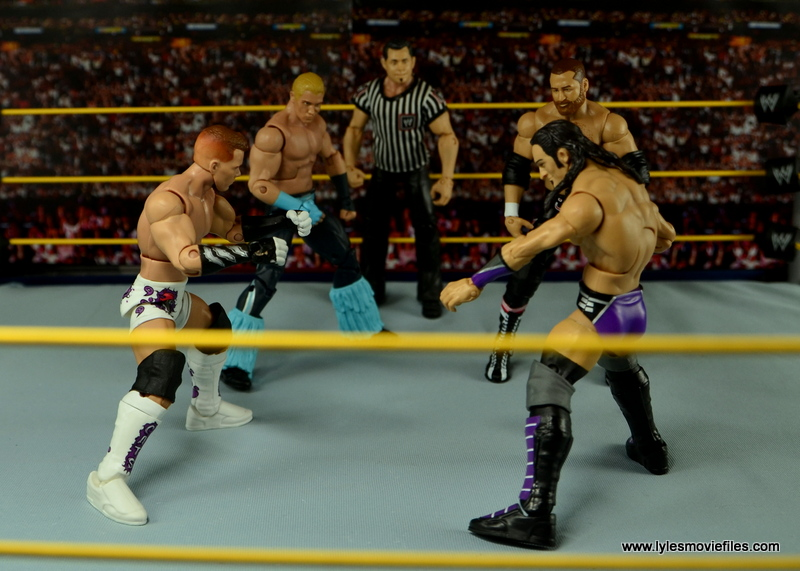 WWE Elite Tyson Kidd figure review - NXT TakeOver vs Tyler Breeze vs Neville vs Sami Zayn