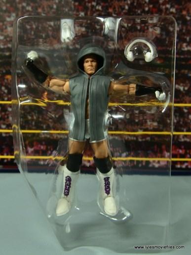 WWE Elite Tyson Kidd figure review -accessories in tray