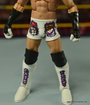 WWE Elite Tyson Kidd figure review -closeup of tight details
