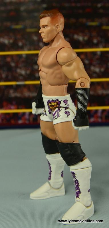 WWE Elite Tyson Kidd figure review -left side