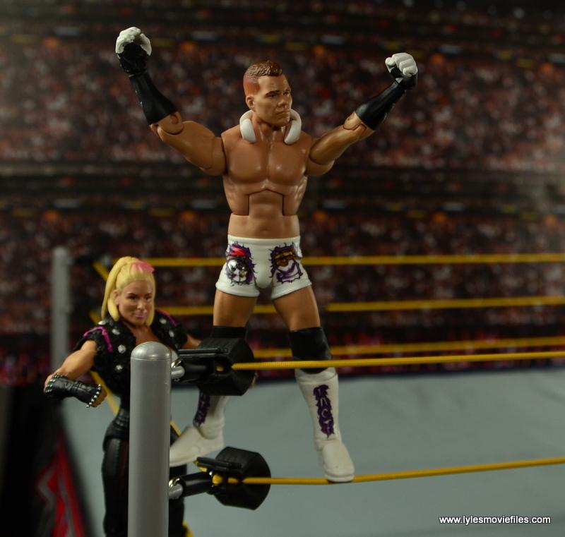 WWE Elite Tyson Kidd figure review - turnbuckle pose