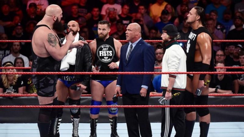 WWE Raw - Big Show, The Revival, Kurt Angle, Big Cass and Enzo