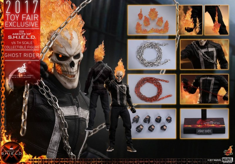 Hot Toys Agents of SHIELD Ghost Rider figure -collage
