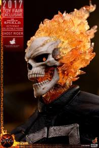 Hot Toys Agents of SHIELD Ghost Rider figure -open mouth