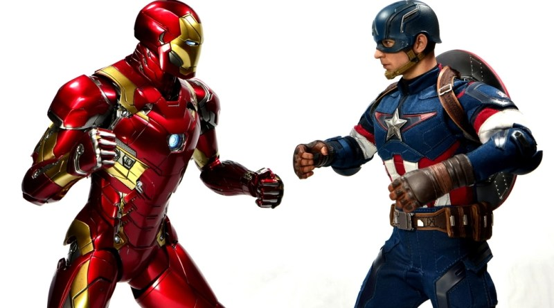 Hot Toys Captain America Civil War Iron Man figure review - face off with Captain America