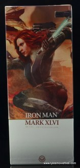 Hot Toys Captain America Civil War Iron Man figure review - package Black Widow side